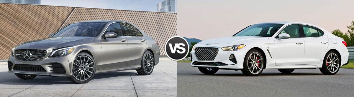 2020 Mercedes-Benz C-Class vs 2020 Genesis G70