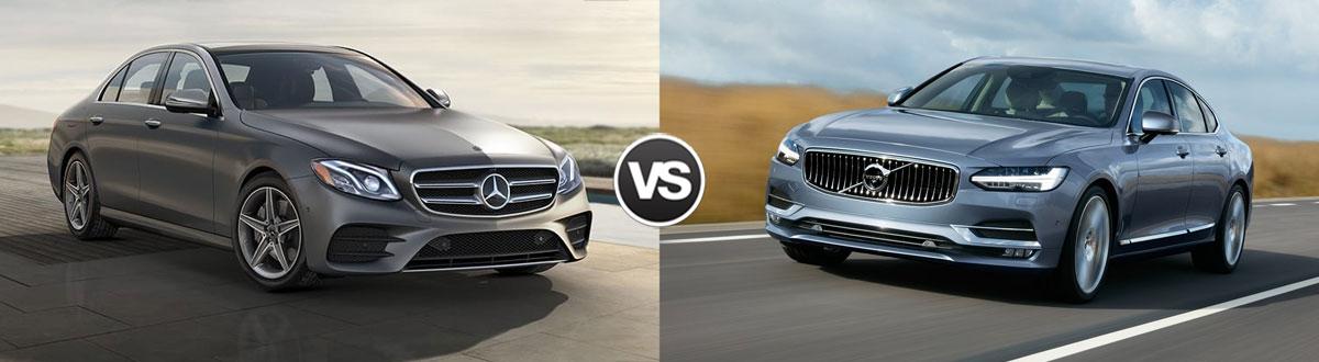 2020 Mercedes-Benz E-Class vs 2020 Volvo S90