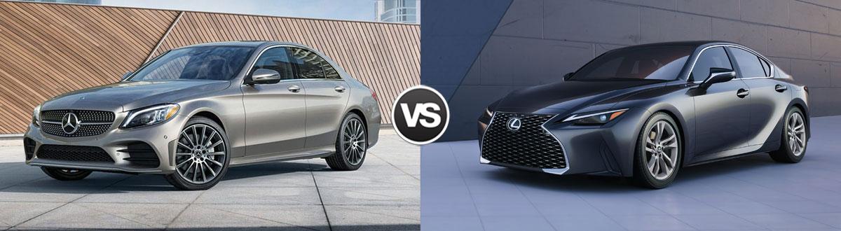 2021 Mercedes-Benz C-Class vs 2021 Lexus IS