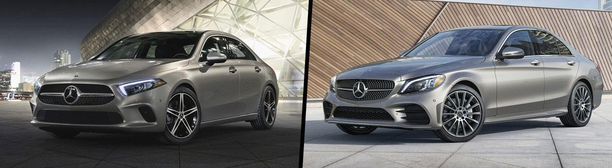 2021 Mercedes-Benz A-Class vs 2021 Mercedes-Benz C-Class