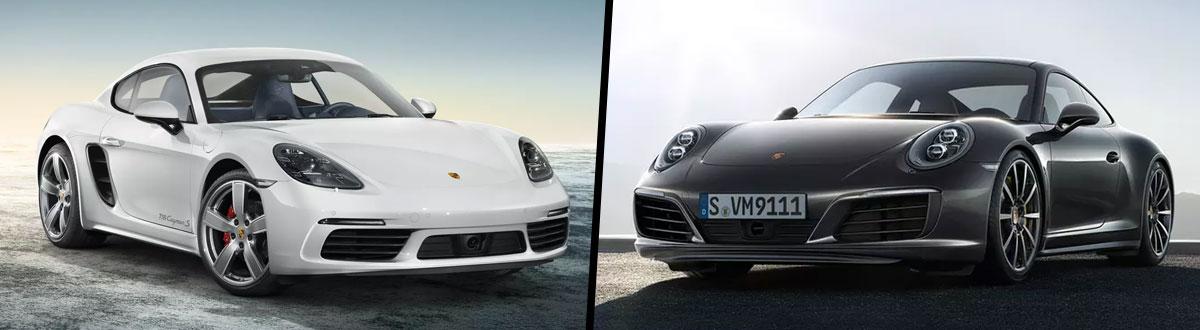2019 Porsche 718 Cayman vs 2019 Porsche 911