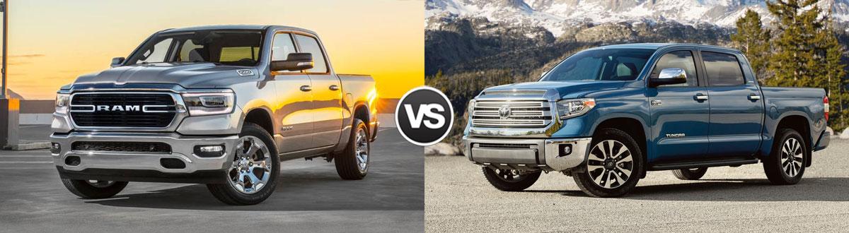 2020 RAM 1500 vs 2020 Toyota Tundra