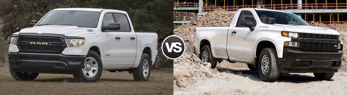 2020 RAM 1500 vs 2020 Chevrolet Silverado