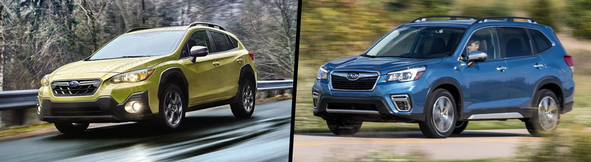 2021 Subaru Crosstrek vs 2021 Subaru Forester