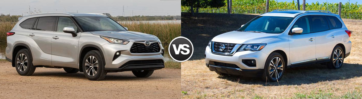 2020 Toyota Highlander vs 2020 Nissan Pathfinder