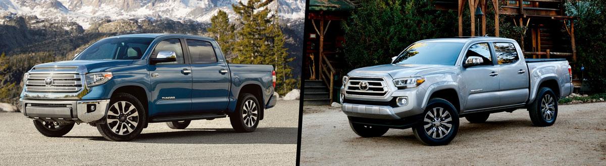 2020 Toyota Tundra vs 2020 Toyota Tacoma