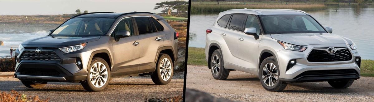 2021 Toyota RAV4 vs 2021 Toyota Highlander
