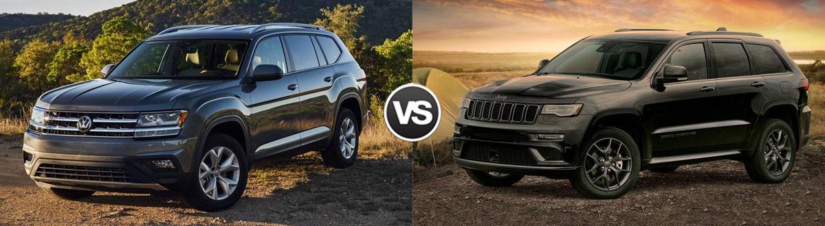 2020 Volkswagen Atlas vs 2020 Jeep Grand Cherokee