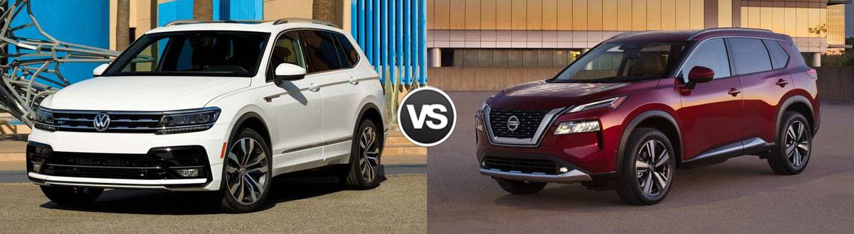 2021 Volkswagen Tiguan vs 2021 Nissan Rogue