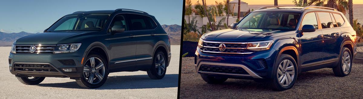 2021 Volkswagen Tiguan vs 2021 Volkswagen Atlas