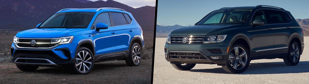 2022 Volkswagen Taos vs 2021 Volkswagen Tiguan