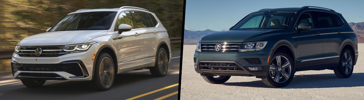 2022 Volkswagen Tiguan vs 2021 Volkswagen Tiguan